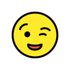 Winking Face openmoji emoji
