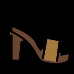 Womans Sandal openmoji emoji