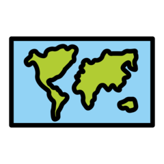 World Map openmoji emoji