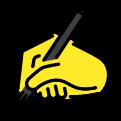 Writing Hand openmoji emoji