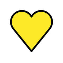 Yellow Heart openmoji emoji