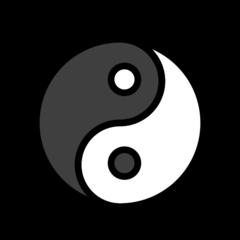 Yin Yang openmoji emoji