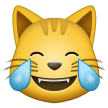 Cat Face With Tears Of Joy samsung emoji