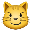 Cat Face With Wry Smile samsung emoji