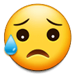 Disappointed But Relieved Face samsung emoji