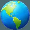Earth Globe Americas samsung emoji