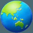 Earth Globe Asia-australia samsung emoji