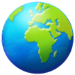 Earth Globe Europe-africa samsung emoji