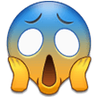 Face Screaming In Fear samsung emoji