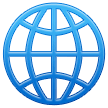 Globe With Meridians samsung emoji