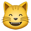 Grinning Cat Face With Smiling Eyes samsung emoji