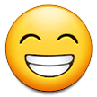 Grinning Face With Smiling Eyes samsung emoji