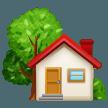 House With Garden samsung emoji