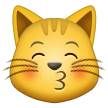 Kissing Cat Face With Closed Eyes samsung emoji