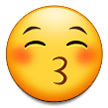Kissing Face With Closed Eyes samsung emoji