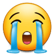 Loudly Crying Face samsung emoji