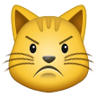 Pouting Cat Face samsung emoji