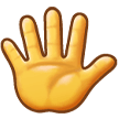 Raised Hand With Fingers Splayed samsung emoji