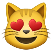 Smiling Cat Face With Heart-shaped Eyes samsung emoji