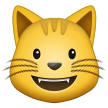 Smiling Cat Face With Open Mouth samsung emoji