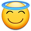 Smiling Face With Halo samsung emoji