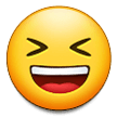 Smiling Face With Open Mouth And Tightly-closed Eyes samsung emoji