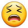 Tired Face samsung emoji