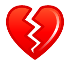 Broken Heart softbank emoji