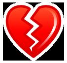 Broken Heart softbank emoji