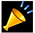 Cheering Megaphone softbank emoji
