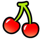 Cherries softbank emoji