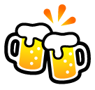 Clinking Beer Mugs softbank emoji