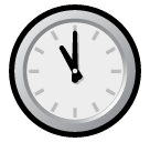 Clock Face Eleven Oclock softbank emoji