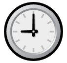 Clock Face Nine Oclock softbank emoji