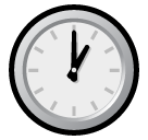 Clock Face One Oclock softbank emoji
