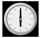 Clock Face Six Oclock softbank emoji