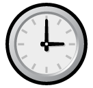 Clock Face Three Oclock softbank emoji
