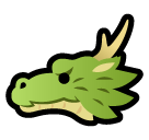 Dragon Face softbank emoji
