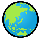 Earth Globe Asia-australia softbank emoji