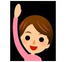 Happy Person Raising One Hand softbank emoji