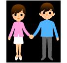 Man And Woman Holding Hands softbank emoji