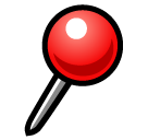 Round Pushpin softbank emoji