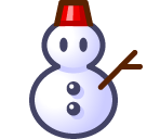 Snowman Without Snow softbank emoji