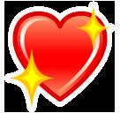 Sparkling Heart softbank emoji