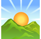 Sunrise Over Mountains softbank emoji