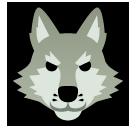 Wolf Face softbank emoji