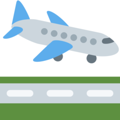 Airplane Arriving twitter emoji