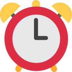 Alarm Clock twitter emoji