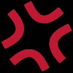Anger Symbol twitter emoji