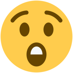 Astonished Face twitter emoji